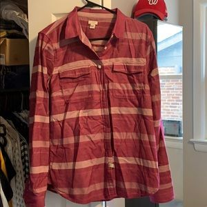 J crew flannel top